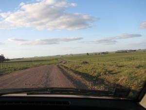 Camino zigzagueante en Durazno