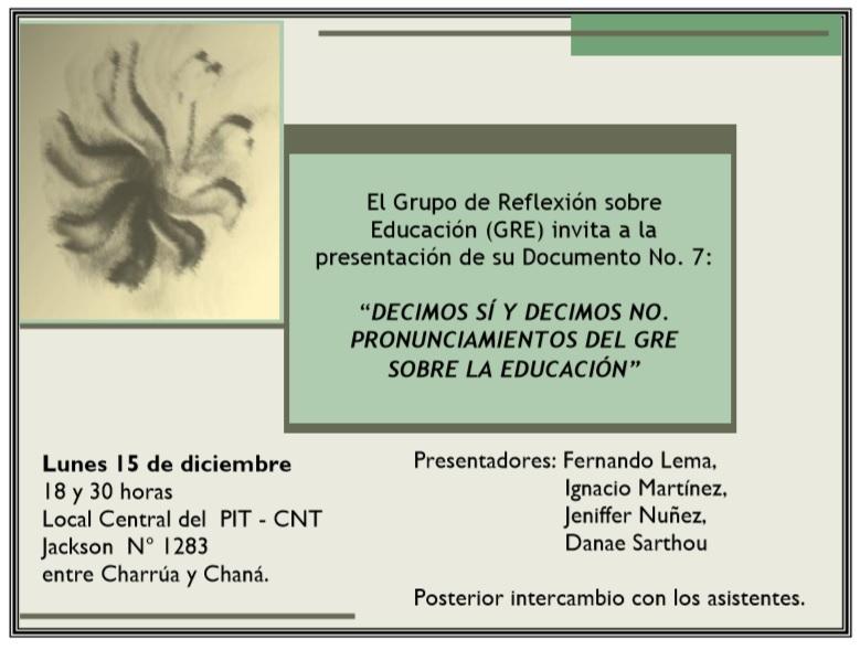 invitacion grupo de reflexion